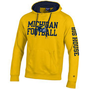 Champion University of Michigan Football Yellow Heritage Hooded Sweatshirt