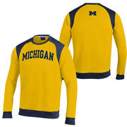 Champion University of Michigan Yellow Heritage Crewneck Sweatshirt