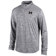 Champion University of Michigan Heather Gray Infinity 1/4 Zip Pullover