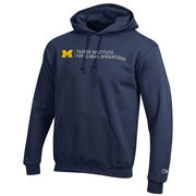 Champion University of Michigan Tauber Institute Navy Hooded Sweatshirt