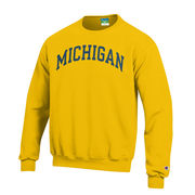 Champion University of Michigan Yellow Basic Crewneck Sweatshirt