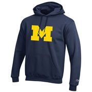 Champion University of Michigan Navy Tackle Twill Block M Logo Hood