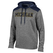 Champion University of Michigan Gray/Navy Unlimited Performance Hooded Sweatshirt