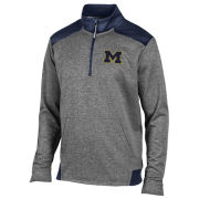 Champion University of Michigan Gray/Navy Unlimited Performance 1/4 Zip Pullover