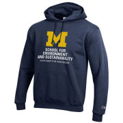 Champion University of Michigan School for Environment and Sustainability (SEAS) Navy Hooded Sweatshirt