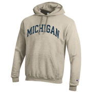 Champion University of Michigan Oatmeal Basic Hooded Sweatshirt