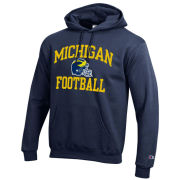Champion University of Michigan Football Navy Hooded Sweatshirt