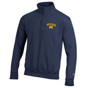 Champion University of Michigan Navy 1/4 Zip Pullover Sweatshirt