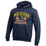Champion University of Michigan Football Navy Bowl Game Hooded Sweatshirt