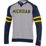 Champion University of Michigan Navy/ Gray Superfan Crewneck Sweatshirt