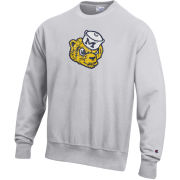 Champion University of Michigan College Vault Wolverine Silver Gray Reverse Weave Crewneck Sweatshirt