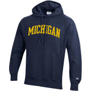 Champion University of Michigan Navy Reverse Weave Hooded Sweatshirt