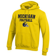 Champion University of Michigan Football Yellow Hooded Sweatshirt