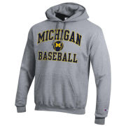 Champion University of Michigan Baseball Gray Hooded Sweatshirt