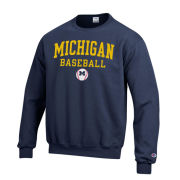 Champion University of Michigan Baseball Navy Crewneck Sweatshirt