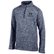 Champion University of Michigan Heather Navy Arctic Fleece 1/4 Zip Pullover
