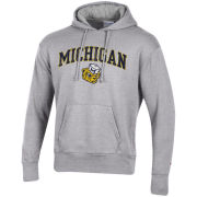 Champion University of Michigan Gray College Vault Wolverine Rochester Fleece Hooded Sweatshirt