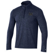 Champion University of Michigan Heather Navy Field Day 1/4 Zip Pullover