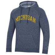 Champion University of Michigan Heather Navy Triumph Triblend Hooded Sweatshirt