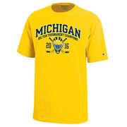 Champion University of Michigan Hockey Big Ten Tourney Champions Yellow Tee
