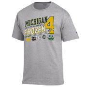 Champion University of Michigan Hockey Frozen Four Gray Four Team Tee
