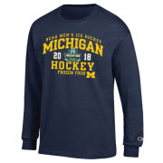Champion University of Michigan Hockey Frozen Four Navy Long Sleeve Tee