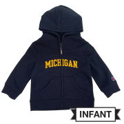Champion University of Michigan Infant Navy Full Zip Hooded Sweatshirt