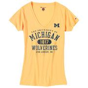 Champion University of Michigan Ladies Mimosa V-Neck Tee
