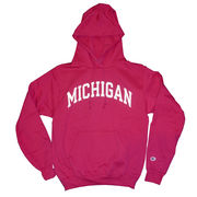 Champion University of Michigan Pink Basic Hooded Sweatshirt