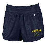 Champion University of Michigan Ladies Navy Interval Mesh Shorts