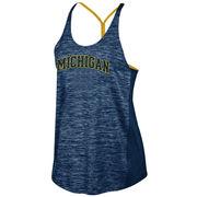Champion University of Michigan Ladies Navy Infinity Tank Top