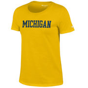 Champion University of Michigan Ladies Yellow University Tee