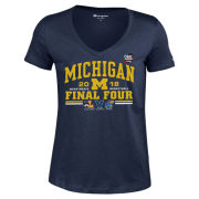 Champion University of Michigan Basketball Final Four Women's Navy Four Team Tee