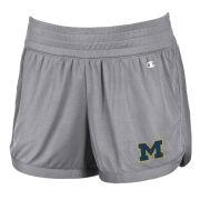 Champion University of Michigan Women's Gray Endurance Mesh Shorts