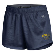 Champion University of Michigan Women's Navy Mesh Shorts