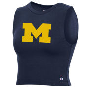 Champion University of Michigan Women's Navy Cropped Sleeveless Tee