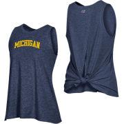 Champion University of Michigan Women's Heather Navy Field Day Tie Back Tank Top