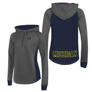 Champion University of Michigan Women's Granite Heritage Pullover 1/4 Zip Hood