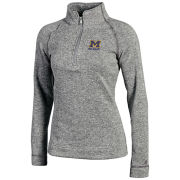 Champion University of Michigan Women's Gray Arctic Fleece 1/4 Zip Pullover