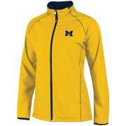 Champion University of Michigan Women's Yellow ''Be Seen'' Full Zip Jacket
