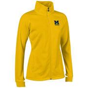 Champion University of Michigan Women's Yellow Heritage Full Zip Sweatshirt