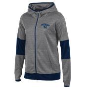 Champion University of Michigan Women's Gray/Navy Convergence Full Zip Hooded Sweatshirt