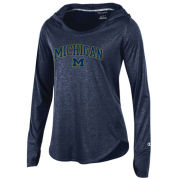 Champion University of Michigan Women's Midnight Navy Epic Traverse Long Sleeve Hooded Tee
