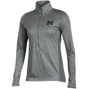 Champion University of Michigan Women's Gray Marathon Deep Zip Performance Pullover