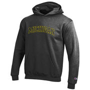 Champion University of Michigan Youth Granite Hooded Sweatshirt