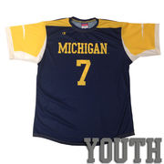 Champion University of Michigan Soccer Youth Replica Navy Jersey