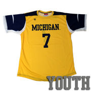 Champion University of Michigan Soccer Youth Replica Yellow Jersey
