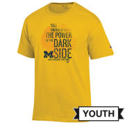 Champion University of Michigan x Star Wars Youth ''Dark Side'' Yellow Tee