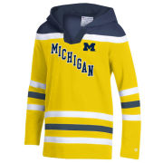 Champion University of Michigan Hockey Youth Yellow Heritage Hooded Sweatshirt