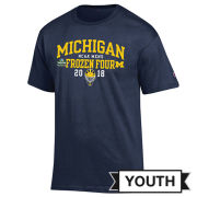 Champion University of Michigan Hockey Frozen Four Youth Navy Tee